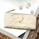 【ATAO】アタオ 白パイソン×ゴールド箔をあしらった贅沢なロングウォレットlimo python luxe(リモパイソンリュクス…