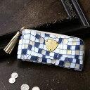 【ATAO】長財布 レディース イタリアから届いたATAOのためのオリジナルレザーウォレットlimo vitro blue prism(リモ…