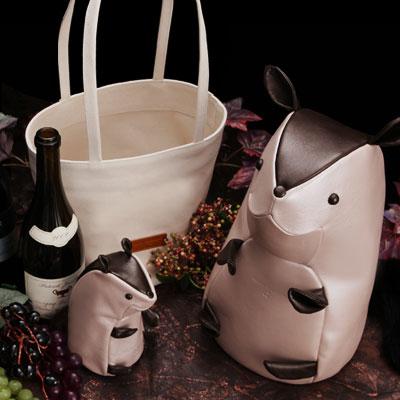 【FRUTTI】Winebottle case Nicola Bacchus(ワインボトルケース ニコラ バッカス)キャンバストート付き