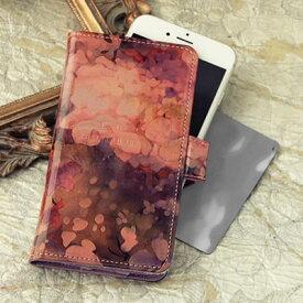 【FRUTTI】モネの絵画のようなレザーで仕立てるiPhone6&6s/iPhone7対応ケースPiatto Alice(ピアット アリス)【iPhone6、iPhone6s、iPhone7に対応】iPhoneケース 本革 レザー 手帳型 ピンク 花柄 FRUTTI DI BOSCO フルッティ ディ ボスコ 356-118622-8054