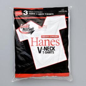 【公式】ヘインズ Hanes Tシャツコットン 100% (綿100%) Hanes 下着 トップス【3枚組】アカラベルVネックTシャツ 赤パック (HM2145K)