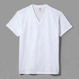 【公式】ヘインズ Hanes 日本製 MADE IN JAPAN Tシャツ Hanes プレミアムジャパンフィット VネックTシャツ 19FW【秋冬新作】PREMIUM Japan Fit(HM1-F002)