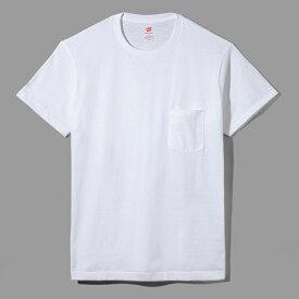 【公式】ヘインズ Hanes 日本製 MADE IN JAPAN Tシャツ Hanes プレミアムジャパンフィット ポケット付クルーネックTシャツ 19FW【秋冬新作】PREMIUM Japan Fit(HM1-F004)