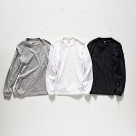 【公式】ヘインズ【30%OFF】Hanes 日本製 MADE IN JAPAN Tシャツ Hanes プレミアム クルーネックロングスリーブTシャツ PREMIUM (HM4-L001)★セール品は商品不備以外 返品交換不可