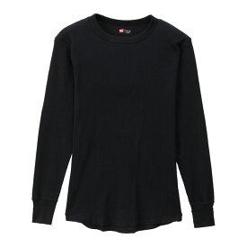 サーマル クルーネックロングスリーブTシャツ 19FW【秋冬新作】 ヘインズ(HM4-Q501)