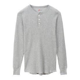 【公式】ヘインズ Hanes サーマル ヘンリーネックロングスリーブTシャツ 19FW ヘインズ(HM4-Q502)