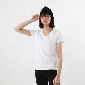 【公式】ヘインズ Hanes ウィメンズ ジャパンフィット【2枚組】VネックTシャツ 5.3oz 19FW【秋冬新作】Japan Fit for HER (HW5315)