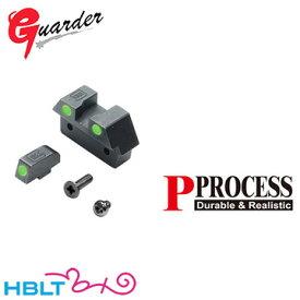 ガーダー ナイトサイト セット G26 スタイル 東京マルイ グロック17 グロック26 用 (スチール グリーンドット) /Guarder カスタムパーツ Glock17 G17 Glock26 サバゲー
