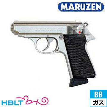 マルゼン Walther PPK/S Silver ガスブローバックガン /ガス エアガン MZ ワルサー サバゲー 銃
