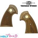 タナカワークス 木製グリップ コルトパイソン 用 アメリカン・ウォールナット オーバーサイズ チェッカー /タナカ tan…