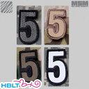 【MSM(ミルスペックモンキー)】パッチ Tac Numbers 5(刺繍)/MIL-SPEC MONKEY/ベルクロ/パッチ/ワッペン/数字/ナン…