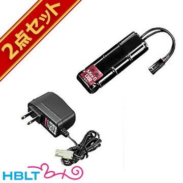【東京マルイ】ニッケル水素 8.4V ミニS バッテリー 1300mAh + NEW 充電器/No153/No197/ニッスイ