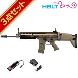 東京マルイ 次世代電動ガン SCAR-L (スカーL) FDE フルセット /電動 エアガン (本体+バッテリー+充電器) スカー サバゲー 銃