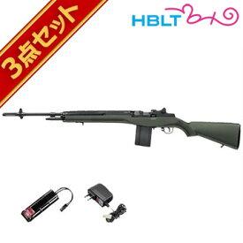 フルセット 東京マルイ USライフル M14 ファイバータイプODストック 電動ガン バッテリー 充電器セット /電動 エアガン サバゲー 銃