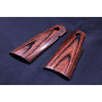 【PANDORAARMS】木製グリップ東京マルイハイキャパ/Hi−Capa/5.1/4.3用(スムース樺材)|AWG−401/ウッドグリップ/木グリ