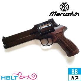 マルシン マテバ Xカート仕様 最高級ブナ製 木製グリップ付 ABS Wディープ ブラック(ガスガン/リボルバー本体 6mm) /ガス エアガン MATEBA サバゲー 銃