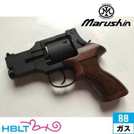 マルシン マテバ ショート Xカート仕様 最高級ブナ製 木製グリップ付 HW ブラック ガスガン リボルバー 本体 6mm /ガス エアガン MATEBA サバゲー 銃