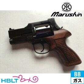 マルシン マテバ ショート Xカート仕様 最高級ブナ製 木製グリップ付 ABS Wディープ ブラック ガスガン リボルバー 本体 6mm /ガス エアガン MATEBA サバゲー 銃