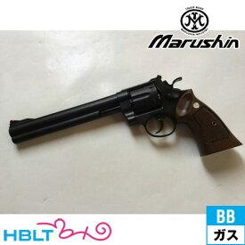 マルシン S&W M29 クラシック Xカート仕様 ハーフチェッカー木製グリップ付 ABS マット ブラック 8_3/8 インチ(ガスガン リボルバー 本体 6mm) /SW Smith & Wesson Nフレーム