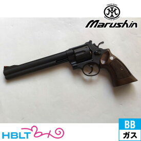 マルシン S&W M29 クラシック Xカート仕様 ハーフチェッカー木製グリップ付 HW ブラック 8_3/8 インチ(ガスガン リボルバー 本体 6mm) /SW Smith & Wesson Nフレーム