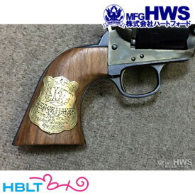 ハートフォード 木製グリップ HWS Colt SAA.45(3rd) バントライン・スペシャル ワイアット・アープ モデル 専用(メダリオン付 ツーピース) /Hartford HWS ピースメーカー S.A.A ウエスタン Peace Maker シングル アクション アーミー