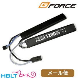 G-FORCE リポバッテリー Noir 7.4V 1200mAh SOPMOD 対応 サドルパック 20C /ジーフォース ミニコネクタ GFG902 ノワール LiPo Li-Po 充電式 電池 サバゲー 電動ガン メール便 対応商品