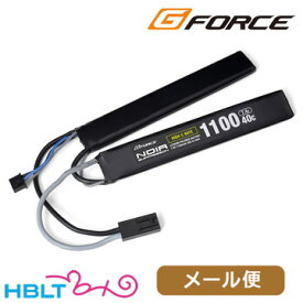 G-FORCE リポバッテリー Noir SUPPRESSION 7.4V 1100mAh 40C SOPMOD 40C /ジーフォース ミニコネクタ GFG932 ノワール サプレッション LiPo Li-Po 充電式 電池 サバゲー 電動ガン メール便 対応商品
