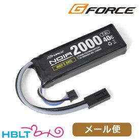 G-FORCE リポバッテリー Noir SUPPRESSION 7.4V 2000mAh 40C ミニS 40C /ジーフォース ミニコネクタ GFG934 ノワール サプレッション LiPo Li-Po 充電式 電池 サバゲー 電動ガン メール便 対応商品