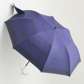【UVカット100%生地×ショートワイド傘】【晴雨兼用傘・日傘】レースボーダープリントショートワイド(ネイビー) 55cm(スライド式中棒)UVカット/遮熱/レディース/折りたたみ傘/コンパクト&運びやすい/大きい傘/使いやすい/運びやすい雨傘