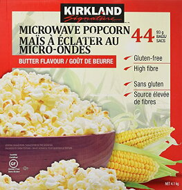 KIRKLAND ポップコーン 44袋 バター 塩味 カークランドシグネチャー 電子レンジ用 4.1kg