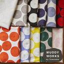 [数量5個から承ります] MUDDY WORKS by Tomotake 『 あんぱん 』柄 綿モーリークロス生地 約110cm幅×10cm単位計り売…