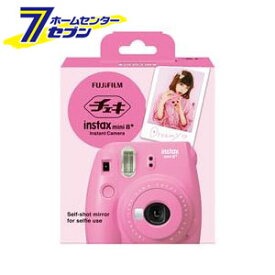 FUJIFILM インスタントカメラ チェキ instax mini8プラス 接写レンズ・純正ハンドストラップ付き ストロベリー[EOS]【キャッシュレス 還元】