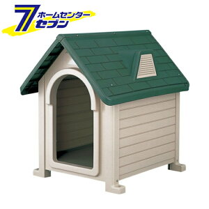 リッチェル ペットハウス DX-490 ダークグリーン [ドッグハウス 犬舎 超小型犬〜中型犬 屋外]