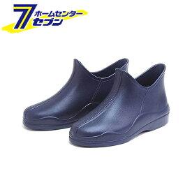 婦人用 ショートタイプ 超軽量ブーツ フットウェア かるかる EVA HM-9044 ネイビーM 23.5〜24cm 阪神素地 [長靴 作業 シューズ ゴム長]