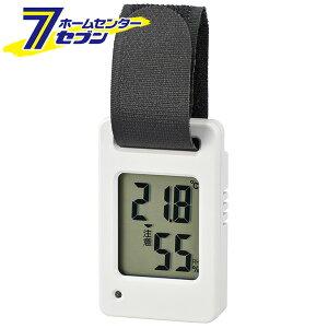 ポータブルデジタル温湿度計 ホワイト TEM-800W オーム電機 [測定器 コンパクト 08-3830]