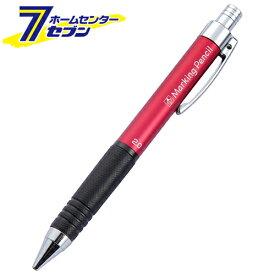 ノック式鉛筆 5連発 赤 NO.7809 2MMシン たくみ [大工道具 墨つけ 基準出し マーカー]