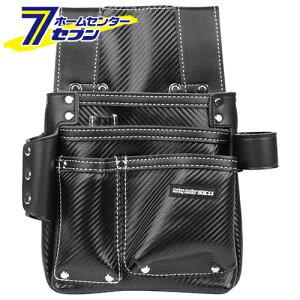 カーボンレザー釘袋 SK-CLK-Hブラック 藤原産業 [収納用品 腰袋 サック 革釘袋]