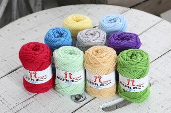 アクリルタワシや小物に最適。抗菌・防臭のアクリル100%手編み糸。