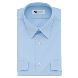 アイトス 半袖カッターシャツ(4075) カラー:サックス サイズ:45 (4075ハンソデカッターシャツ) [43018ー007]【4548413133244:11057】