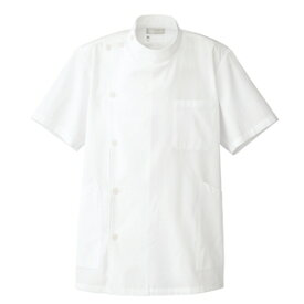 アイトス メンズ半袖KCコート カラー:オフホワイト サイズ:L (ダンシKCハンソデコート(ボ) [861301ー001]【4932514898179:11057】