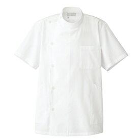 アイトス メンズ半袖KCコート カラー:オフホワイト サイズ:4L (ダンシKCハンソデコート(ボ) [861301ー001]【4932514898209:11057】