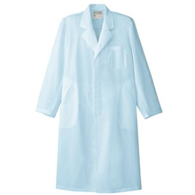 アイトス メンズ白衣コート カラー:サックス サイズ:6L (シンサツイダンシシングル) [861313ー007]【4932514900995:11057】