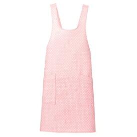 アイトス ドットエプロン カラー:ピンク サイズ:F (ミズタマエプロン) [861377ー060]【4524851011252:11057】