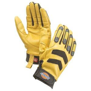 Dickies ディッキーズ本皮手袋(カラー)イエロー(サイズ)L [手袋 本皮] D−3108【4536527848352:12553】
