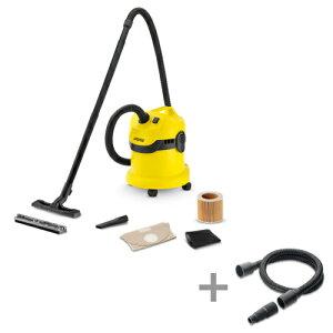 (純正アクセサリーまとめて購入) ケルヒャー 乾湿両用バキュームクリーナーWD2 + 電動工具用ホースキット