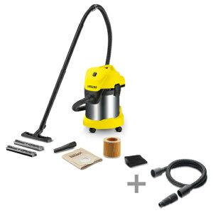 (純正アクセサリーまとめて購入) ケルヒャー 乾湿両用バキュームクリーナーWD3 + 電動工具用ホースキット