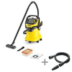 (純正アクセサリーまとめて購入) ケルヒャー 乾湿両用バキュームクリーナーWD5 + 電動工具用ホースキット