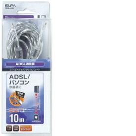 朝日電器 ADSLシールドツイスト6極2芯10m TEW−A100【4901087181537:1341】