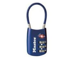 マスターロック ナンバー可変式TSAロック ワイヤータイプ 4688JADBLU