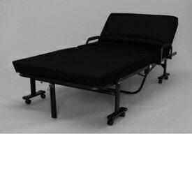 アイリスオーヤマ 折りたたみベッド ブラック OTB−KRH【4905009989430:1309】